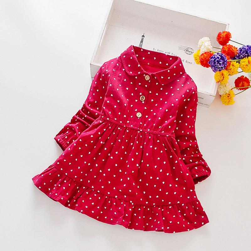 Хлопковое платье для девочки размер 104.