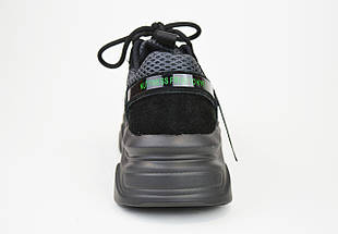 """Кроссовки Prima d""""Arte 91781 Черные замш-текстиль, фото 2"""