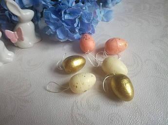 Пасхальный декор, Яйца с золотом, 4см