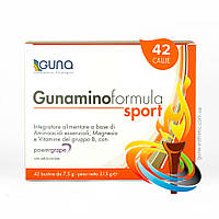 Gunaminoformula Sport (GUNA). 8 незаменимых аминокислот для спортсменов. 42 саше, 315 г