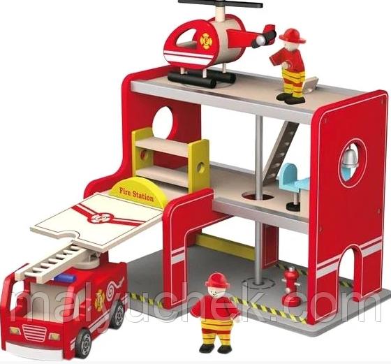 Игровой набор Пожарная станция Viga Toys 50828