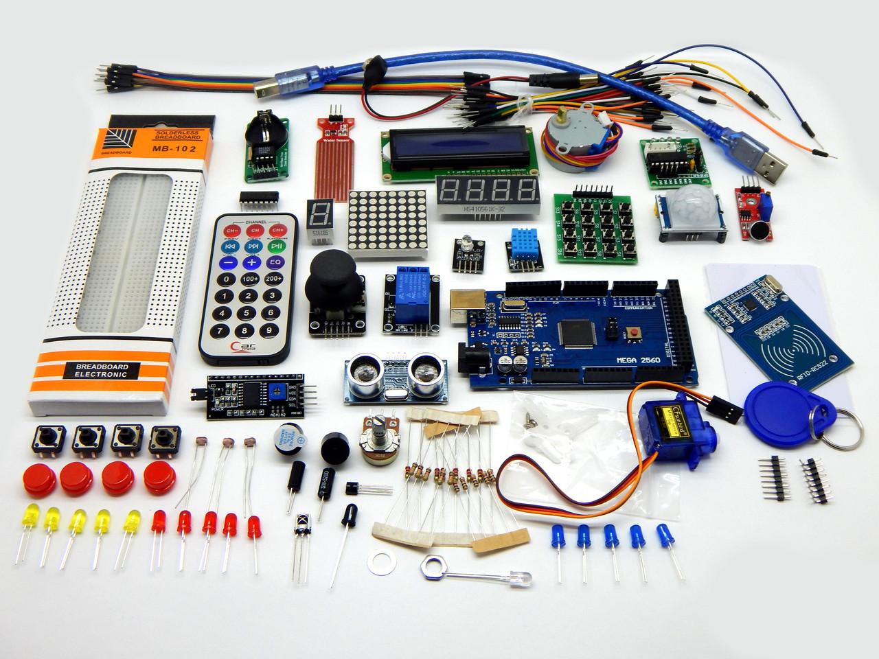Набор Arduino обучающий стартовый на микроконтроллере Arduino Mega 2560