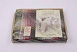 Вовняний Плед Vladi Капрі (Владі) Малиновий 140х200 Меринос 70 (3090), фото 2