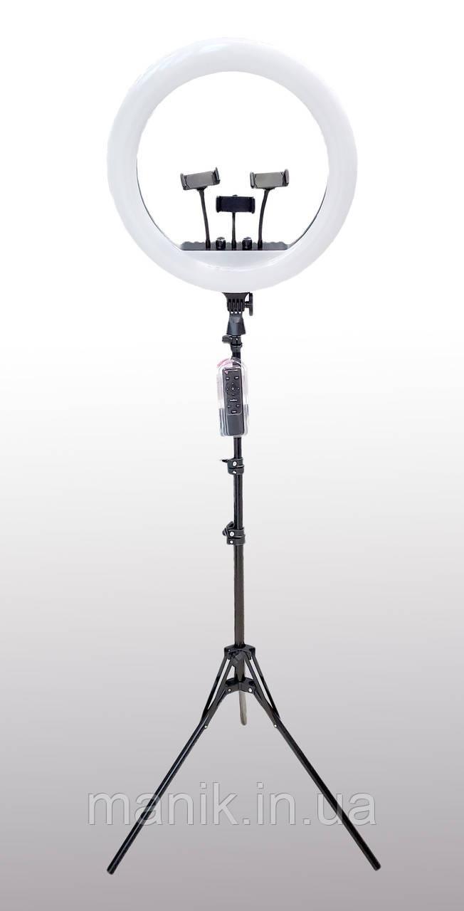Профессиональная кольцевая лампа M-54 (RL-21) с штатив-треногой, пультом, USB