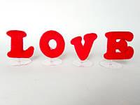 Буквы на подставках  LOVE