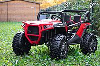 Детский электромобиль джип Багги BUGGY M 4248EBLR-3 красный (белый), 2 мотора по 200W каждый.