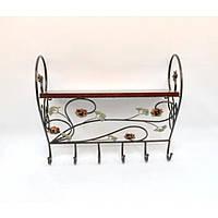 Вешалка HY138, материал - металл, размер - 52*60*23 см, изделия из ротанга и металла, декор для дома, декор для сада