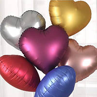 Куля фольгована Серце хром 45 см