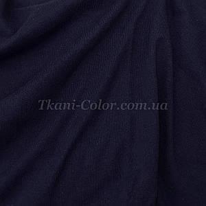 Ткань кулир стрейч темно-синий