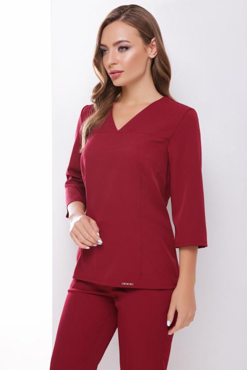 Женская блузка бордовая 42