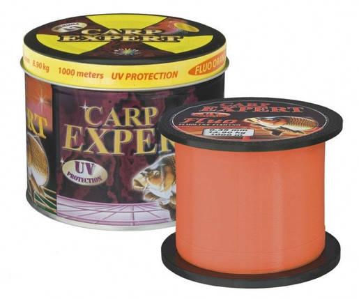 Леска Carp Expert Fluo Orang 0.25mm 1000m, фото 2