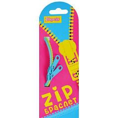 Браслет детский зиппер двухцветный 18см в ящ. mix 6 цветов (неон) 940189