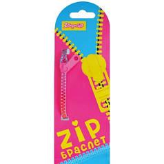 Браслет детский зиппер радуга 18см в ящ. mix 5 цветов 940190