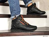 Чоловічі кросівки в стил  Reebok  чорні з коричневим  ( зима )
