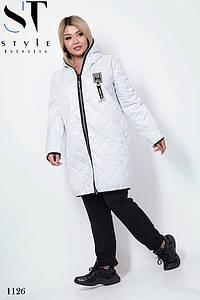 Куртка весеняя с капюшоном плащевка+100 синтепон 48-50,52-54,56-58,60-62