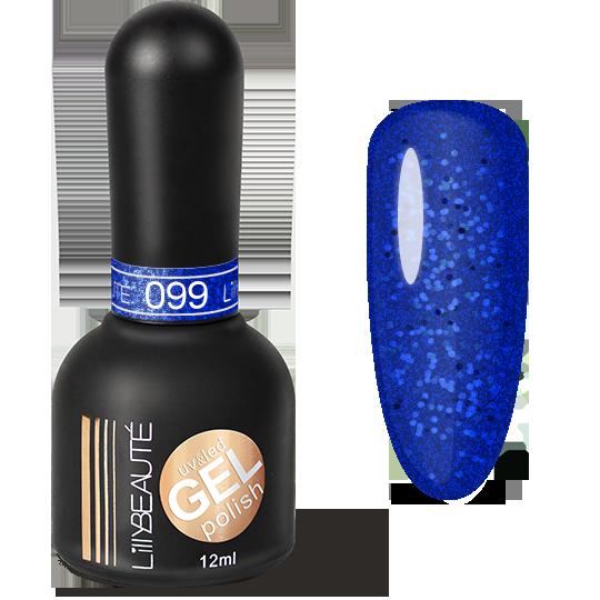 Гель-лак LILLYBEAUTE №099 сверкание синевы