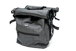 Велосумка штаны, на багажник 35x30x13cm серый BRAVVOS F-088, водоотталк. материал