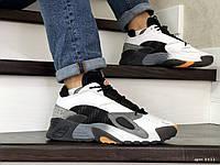 Чоловічі кросівки в стилі  Adidas Streetball  чорно білі\сірі