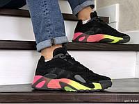 Чоловічі кросівки в стилі  Adidas Streetball  чорні з помаранчевим
