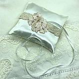 Новая свадебная подушка с розовыми цветочками, фото 2