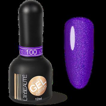 Гель-лак LILLYBEAUTE №100 фіолетовий блиск