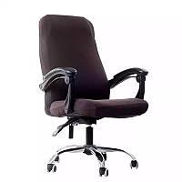 Чехол на офисное кресло тёмно-коричневый размер M Cheholkin