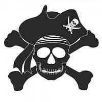 Наклейка интерьерная Череп Пирата