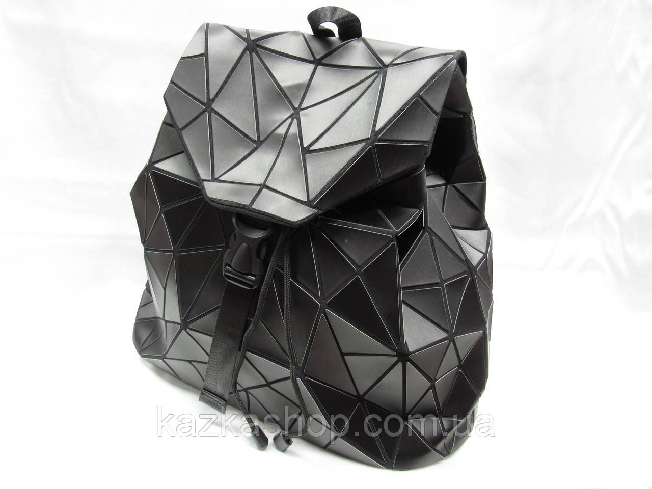 Стильный женский рюкзак ромбами из искусственной кожи на один отдел, регулируемые лямки