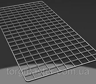 Сетка торговая хромированная 4мм (рама 5мм) настенная 1.2х*0.6м (ячейка 5*5см)