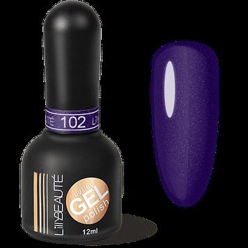 Гель-лак LILLYBEAUTE №102 синьо-фіолетовий метал