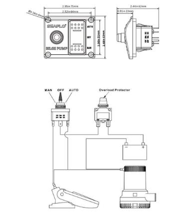 Панель переключения трюмной помпы Seaflo, фото 2
