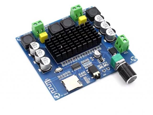 TDA7498 Bluetooth 5.0 модуль усилитель 2х100 Вт с кардридером