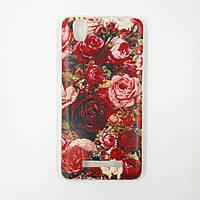 Чехол-бампер TPU силикон для Prestigio PSP3506 Wize M3 DUO Розы красные