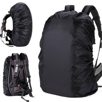 Чехол на рюкзак. 35-50 литров (черный) дождевик на рюкзак, чехол от дождя