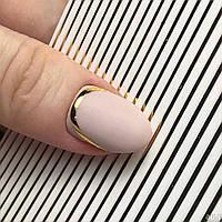 Гнучка стрічка для нігтів, колір золото