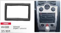 Рамка под магнитолу Renault Megane II (2003-2009 года) 2DIN /на РЕНО МЕГАН 2 /переходная рамка/