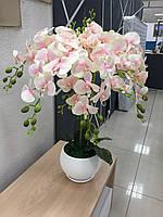 Орхидея «Нежно розовая» , декор для мебели, макси 80-85 см декор для дома и офиса