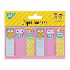 Индексы бумажные YES Rachel Owls 55*15мм 120 шт (6*20) 170233