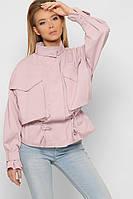 Куртка ветровка женская фасон оверсайз  со светоотражающим эффектом розовая