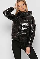 Куртка женская демисезонная короткая стеганая черная