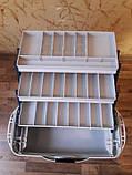 Рыболовный ящик Aquatech 2703 (3-полочный), 3 полки , для приманки и рыболоных снастей , товары для рыбалки, фото 3
