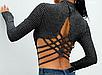 Жіноче сексуальне боді Melissa black з довгим рукавом, фото 8