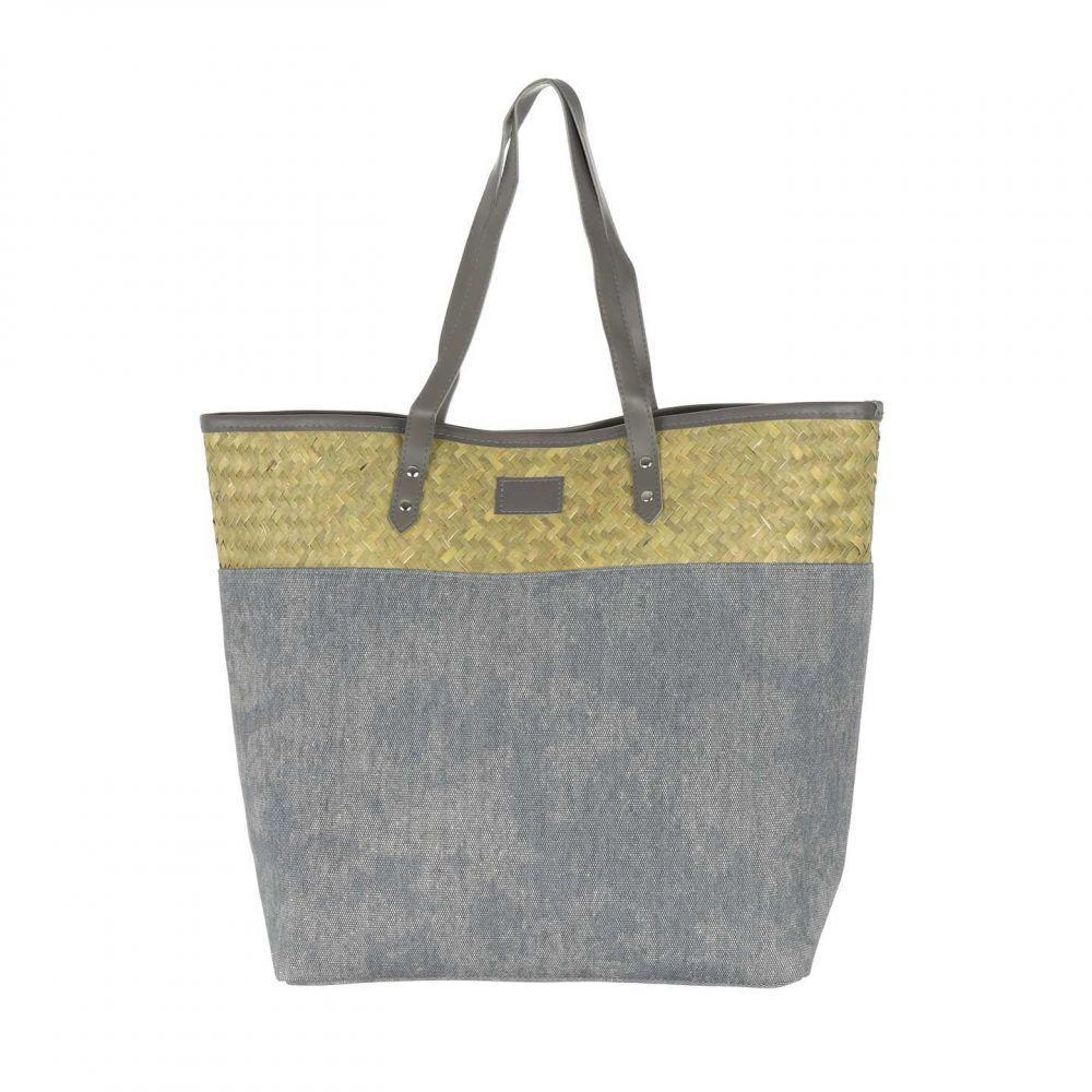 Жіноча велика пляжна сумка на плече Сіра BK061