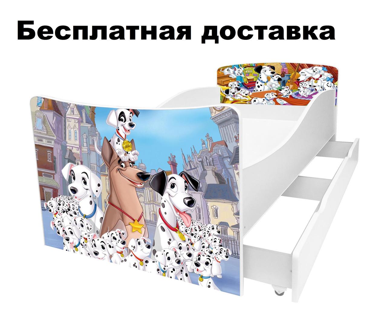 Детская кровать щенки далматинцы