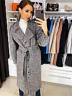 Женское демисезонное пальто Бэтти серого цвета