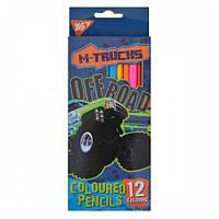 Карандаши 12 цв. M-Trucks Yes 290527