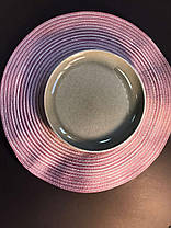 Набор 6 керамических тарелок бежево-серый Мрамор 21.5 см арт. 7953-12, фото 2