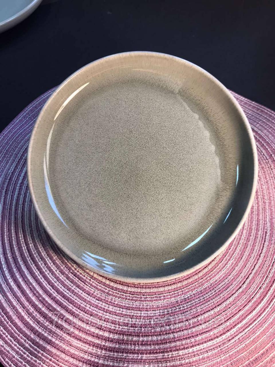 Набор 6 керамических тарелок бежево-серый Мрамор 21.5 см арт. 7953-12