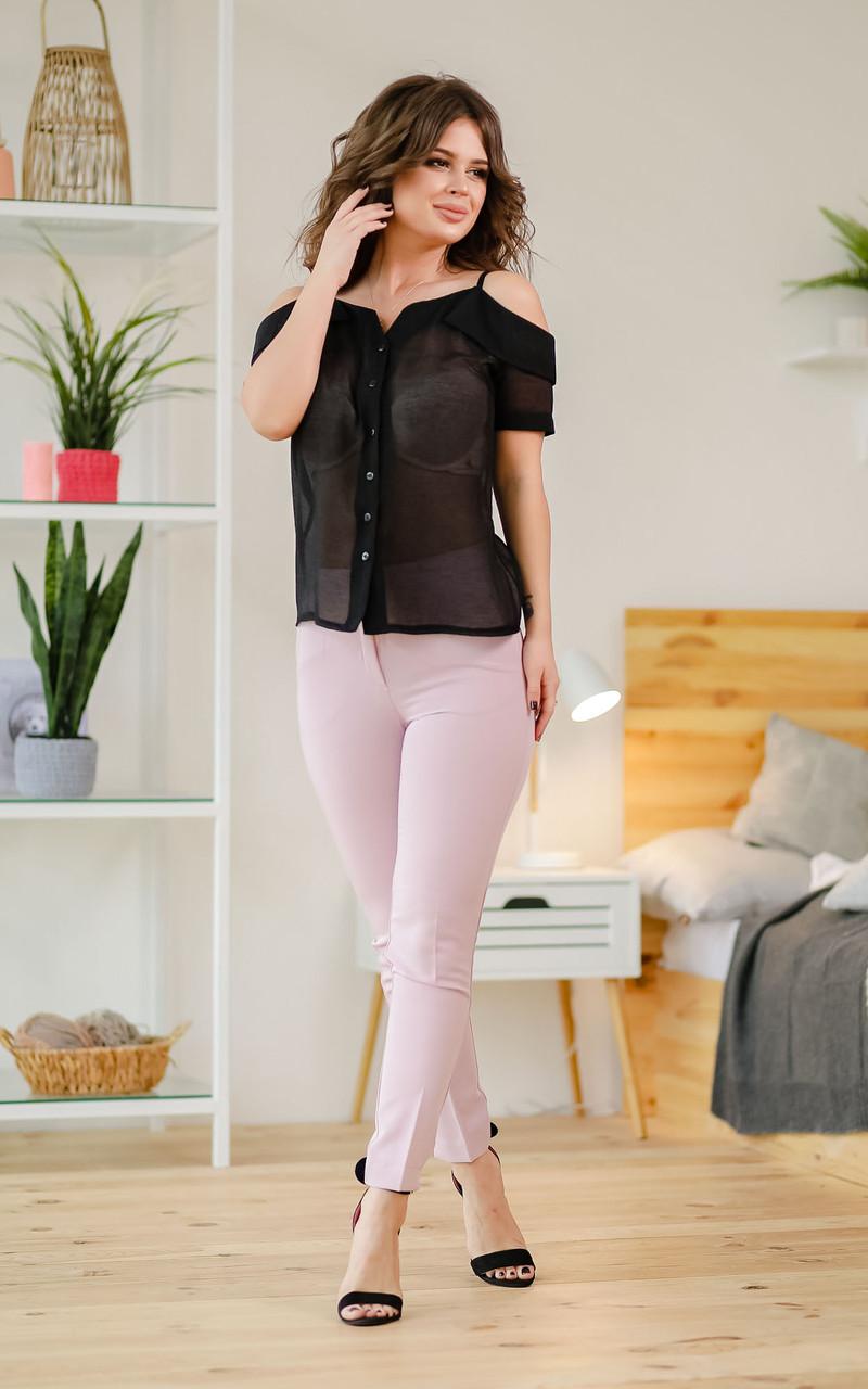 Блузка черная, полупрозрачная