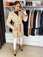 """Женское демисезонное пальто  """"Мими"""" песочного цвета"""